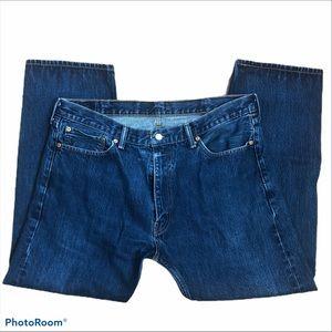 LEVI'S 505 Regular Fit Dark Wash Denim Jeans